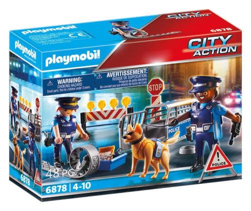 PLAYMOBIL 6878 Polizei-Straßensperre, ca. 19x15x7, ab 4 Jahren