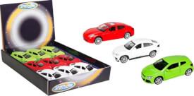 Speedzone Lizenz-PKW mit Rückzug, 3-fach sortiert