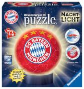 Ravensburger 121779 Puzzleball: Nachtlicht FC Bayern München, 72 Teile