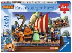 Ravensburger 090945  Puzzle Wickie und seine Freunde 2 x 24 Teile