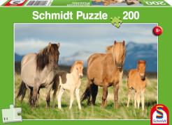 Schmidt Puzzle 56199 Pferdefamilie,  200 Teile, ab 8 Jahre