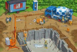 Schmidt Spiele Kinderpuzzle Auf der Baustelle, 3x24 Teile