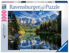 Ravensburger 19367 Puzzle Eibsee mit Wettersteingebirge & Zugspitze 1000 T.