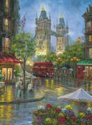 Ravensburger 148127 Puzzle: Malerisches London, 500 Teile