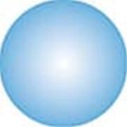 Clickhalbperle azurblau, #= 12 mm