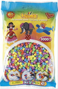 HAMA Bügelperlen Midi - Pastell Mix 3000 Perlen (6 Farben)