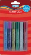 Stylex Glitter Glue, 6 Tuben à 10,5 ml
