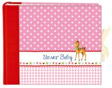 Großes Foto-Eintragalbum Unser Baby, rosa