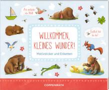 Coppenrath Verlag 394452 Buch ''Willkommen, kleines Wunder! - Stickerbuch BabyBär, Motivsticker und Etiketten'' (broschiert), 8 Se