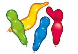 Figurenballons, 12 Stück, sortiert, ca. 30-40 cm