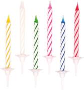 Amscan 24 Geburtstagskerzen mit 12 Haltern