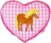 Kuschelkissen Mein kleiner Ponyhof, rosa