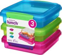 Sistema Sandwich-Box, 3er-Set, pink+grün+blau