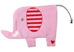 Die Spiegelburg 15286 BabyGlück - Wärmekissen Elefant, ca. 19x29 cm, waschbar, rosa