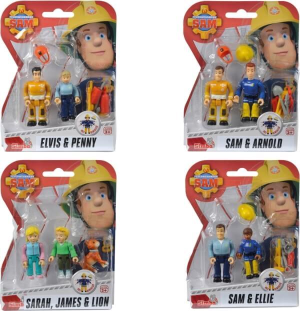Simba Feuerwehrmann Sam bewegliche Figuren Doppelpack sortiert